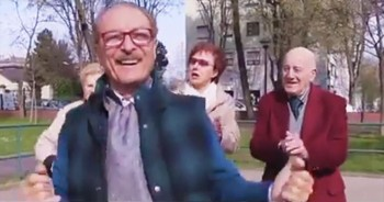 These 'Happy' Grandparents Bust Out Their Best Moves