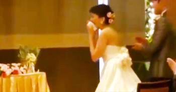This JOYFUL Surprise Left The Bride In Tears. So Cool!
