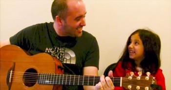 Father and Daughter JOYOUS Duet to 'Down In My Heart'