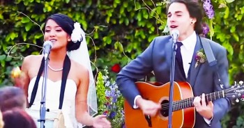 Musical Couple Surprise Guests With CREATIVE Wedding Vows