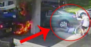 Heroic Cop Saves Elderly Man From Fiery Blaze