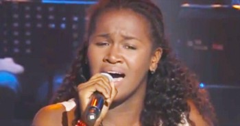 This Young Lady Has One AMAZING Voice. Wait 'Til 1:12 For The Really Good Stuff!