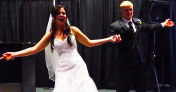 This Wedding Couple 'Froze' The Crowd When They Busted Into This Dance!
