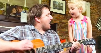 Your Heart Will Explode After This ADORABLE Daddy-Daughter Duet - AWW!