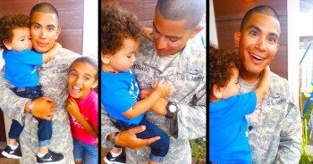 This Soldier Was So Glad To Be Home That He Completely Missed The AWESOME Surprise!