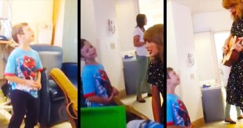 This Country MEGA Star Visited A Children's Hospital, But It Was Little Jordan That Stole The Show - And My Heart!
