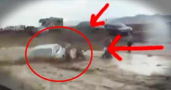 Heroic Airmen RACE To Rescue A Trapped Elderly Couple From Raging Flood Water