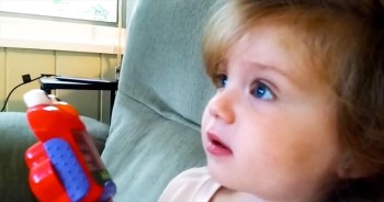 Oh My Goodness! You'll Love What This Cutie Is AMAZED By. It's Out Of This World Cute!