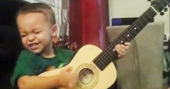 When You See HOW This 2-Year-Old Is Flawlessly Playing The Guitar, You'll Be In STITCHES!