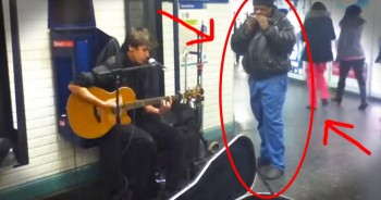 When This Street Performer Started Strumming, An Older Man Stepped In And Did THIS! WHOA!