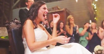This Bride Was The Only 1 Dancing, Until Her Groom Did THIS. No Wonder She Needed To Sit Down!
