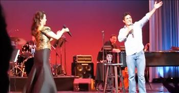 Broadway Star Pulls Stranger On Stage For 'A Whole New World' Duet