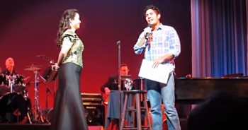 This Broadway Star Pulled A Fan On Stage. But No One Saw THIS Coming -- Whoa!