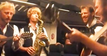 When These Guys Started Playing On The Train, I NEVER Guessed It'd Be THIS Disney Classic!