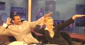 So THIS Is What News Anchors Do During Commercials! No Wonder They're Always Smiling!