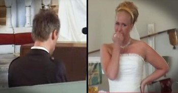 This Bride Was In TEARS When Her Groom Starting Serenading Her With THIS Sweet Song. WOW!
