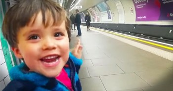 Somebody LOVES The Train. And His Excitement Is Completely ADORABLE!