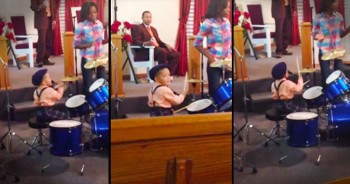 This 2-Year-Old Just STUNNED A Whole Church With His Talented Drumming! WOW!