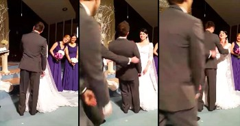 What This Groom Did At The Altar Surprised Everyone. Apparently, He's Excited To Be Married!
