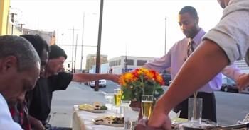 Kind Samaritans Bring Thanksgiving To Homeless Men