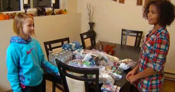 2 Selfless Cousins Save Their Allowance To Buy Goods For The Homeless