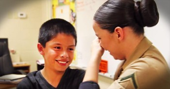 This Marine Gets Surprised With Help To Get Her Family Back