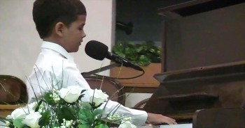 Fall Recital - Samuel playing and singing, You Are Everything
