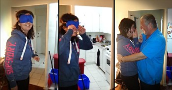 1 Woman Has An Emotional Reunion When Her Dad Makes A Surprise Visit