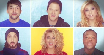 Amazing A Cappella Group Sings Magical 'Winter Wonderland' 'Don't Worry Be Happy' Mashup