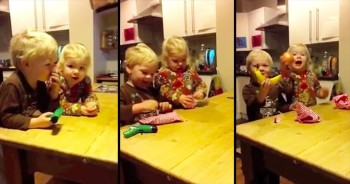 Father Gives Children Ordinary Presents To Remind Them To Be Grateful