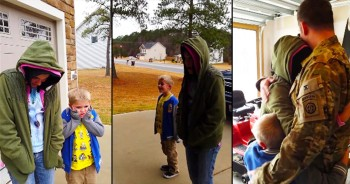 Deployed Father Surprises Son As Early Christmas Present