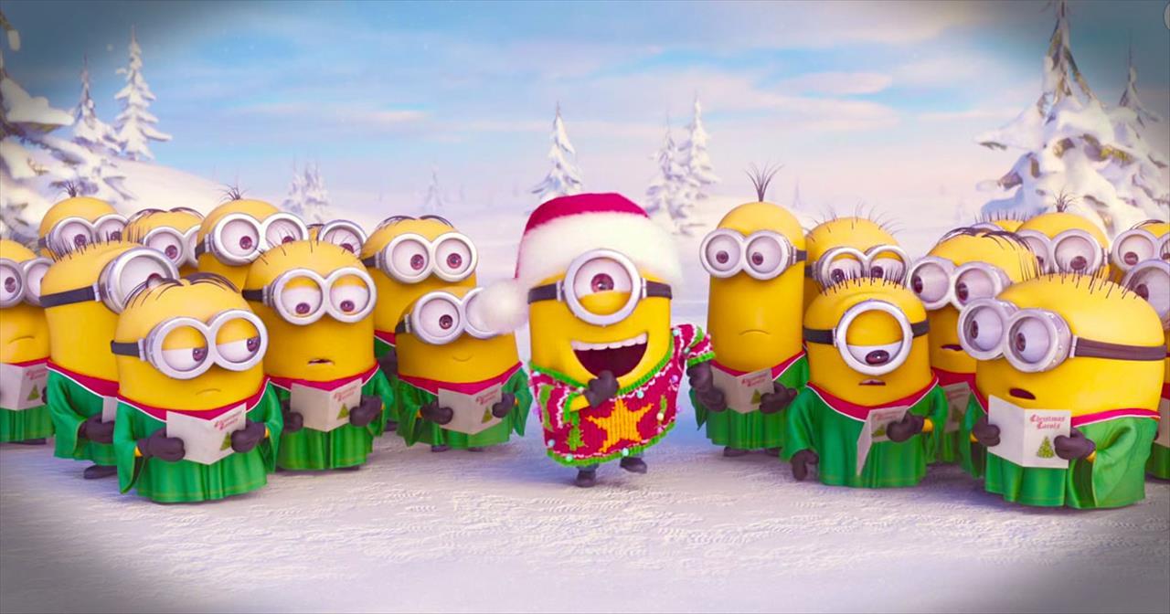 Minion Christmas.The Minions Sing A Christmas Carol To Say Merry Christmas Christian Music Videos