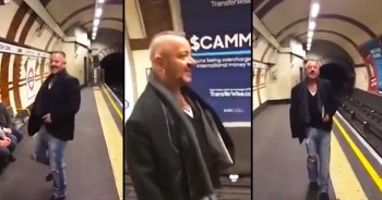Man Bursts Out Into Song At Train Station