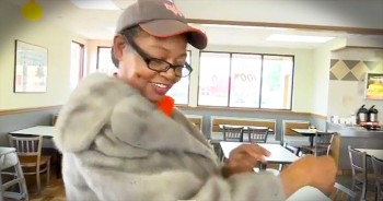 Incredible Act Of Kindness As Customer Gives Drive-Thru Worker Mink Coat
