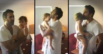 Father With Incredible Voice Sings Sweet Song To Comfort Toddler