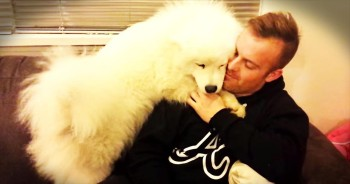 Fluffy Puppy Gives The CUTEST Hug