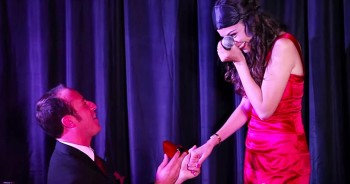 Man Uses 'Magic' Trick To Propose During Live Show