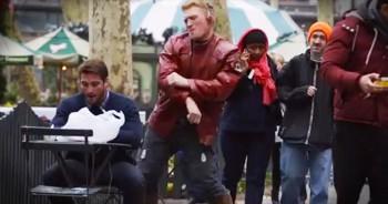 Man Brings Joy By Dancing With Strangers