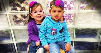 Little Girl Tells 3-Year-Old Fellow Cancer Fighter She's Going To Disneyland