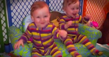 Precious Twins Groove To 'The Chicken Dance'