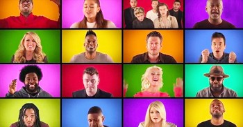 Star-Studded Ensemble Performs A Cappella Version Of 'We Are The Champions'
