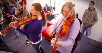 Beethoven Flash Mob Surprises Students On Campus