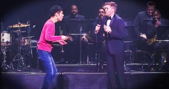 Michael Buble Pulls Talented Audience Member On Stage To DANCE