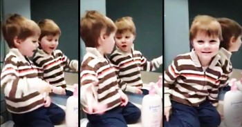 Little Boy Adorably Sings 'Jesus Loves Me' To Cutest Audience