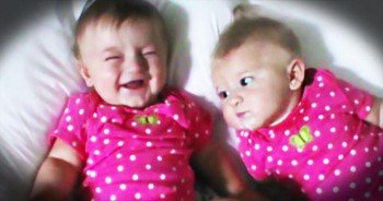 Hilarious Baby Makes Her Twin Sister Laugh