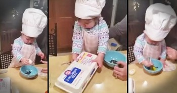This 16-Month-Old Is The CUTEST Future Chef. AWW!