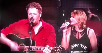 Blake Shelton And Miranda Lambert Surprise Fans With Duet Of 'God Gave Me You!'