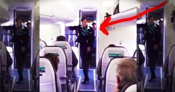Flight Attendant Does FUNKY Dance For Weary Passengers!