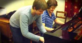 Piano Prodigy And Friend Play 'Dueling' Version Of 'Stars And Stripes'