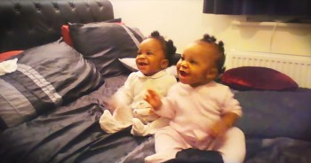 Twin Babies Crack Mom Up With THESE Dance Moves!
